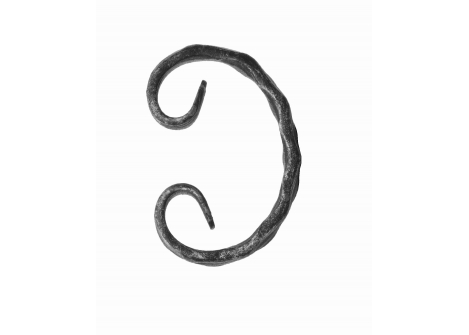 10.202 Spirala C fakturowana 12x6/ H120 x L70