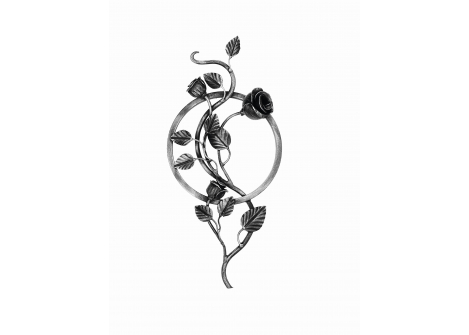 13.038 Rozeta róża 12x12 / H500 x L250