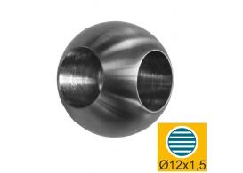 A/0220-225 Łączniknarożny, kulka AISI304, D25/d12m