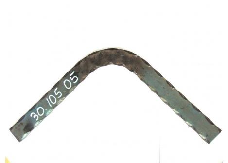 30.105.05 Zakręt poręczy 90 stopni 40x5/H300xL300